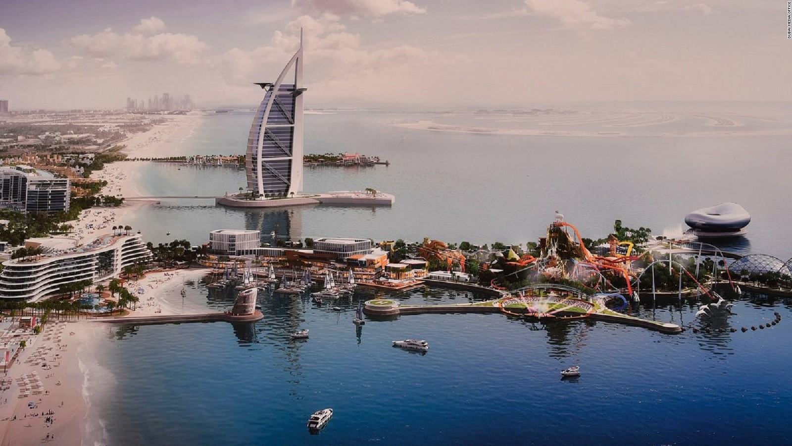 Dubai, UAE is growing again and again it's building deeper direct into the sea